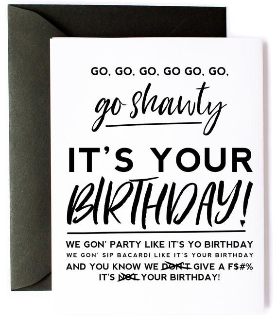 50 Cent Birthday Card  Pop Culture Card  50 Cent Song Lyrics