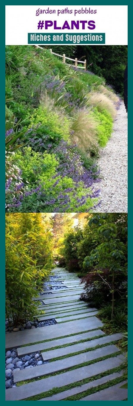 Photo of Garden paths pebbles #plants #niches #seo #keywords #trending. garden paths and …