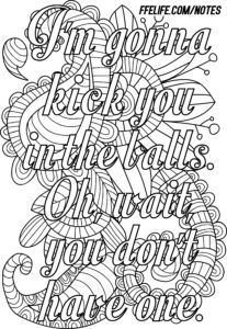 Free Coloring Page For Your Quot Favorite Quot Asshole Coloring