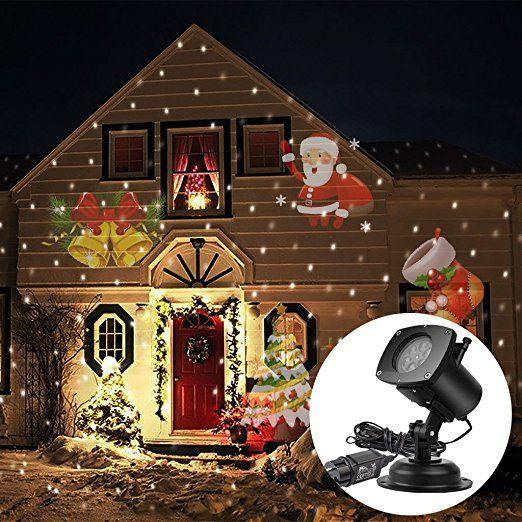 acrato outdoor led projektor lampe gartenleuchte au en lampe weihnachtsbeleuchtung f r garten. Black Bedroom Furniture Sets. Home Design Ideas