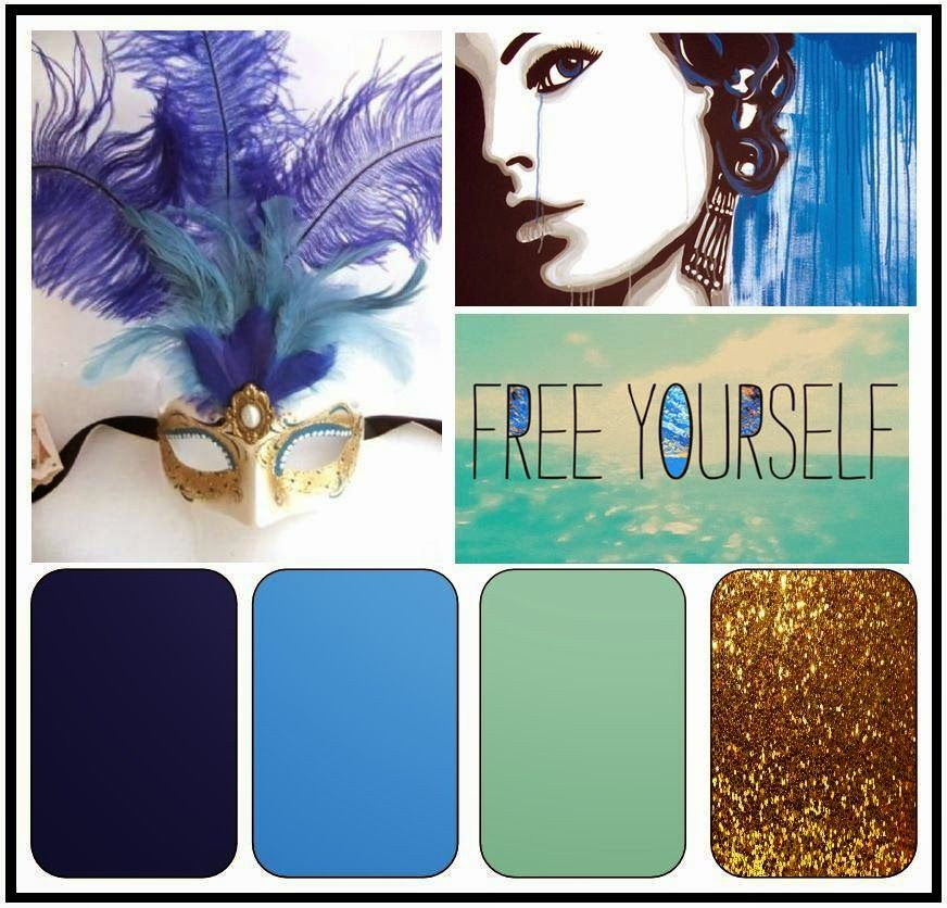 Colours of Gold and Blue