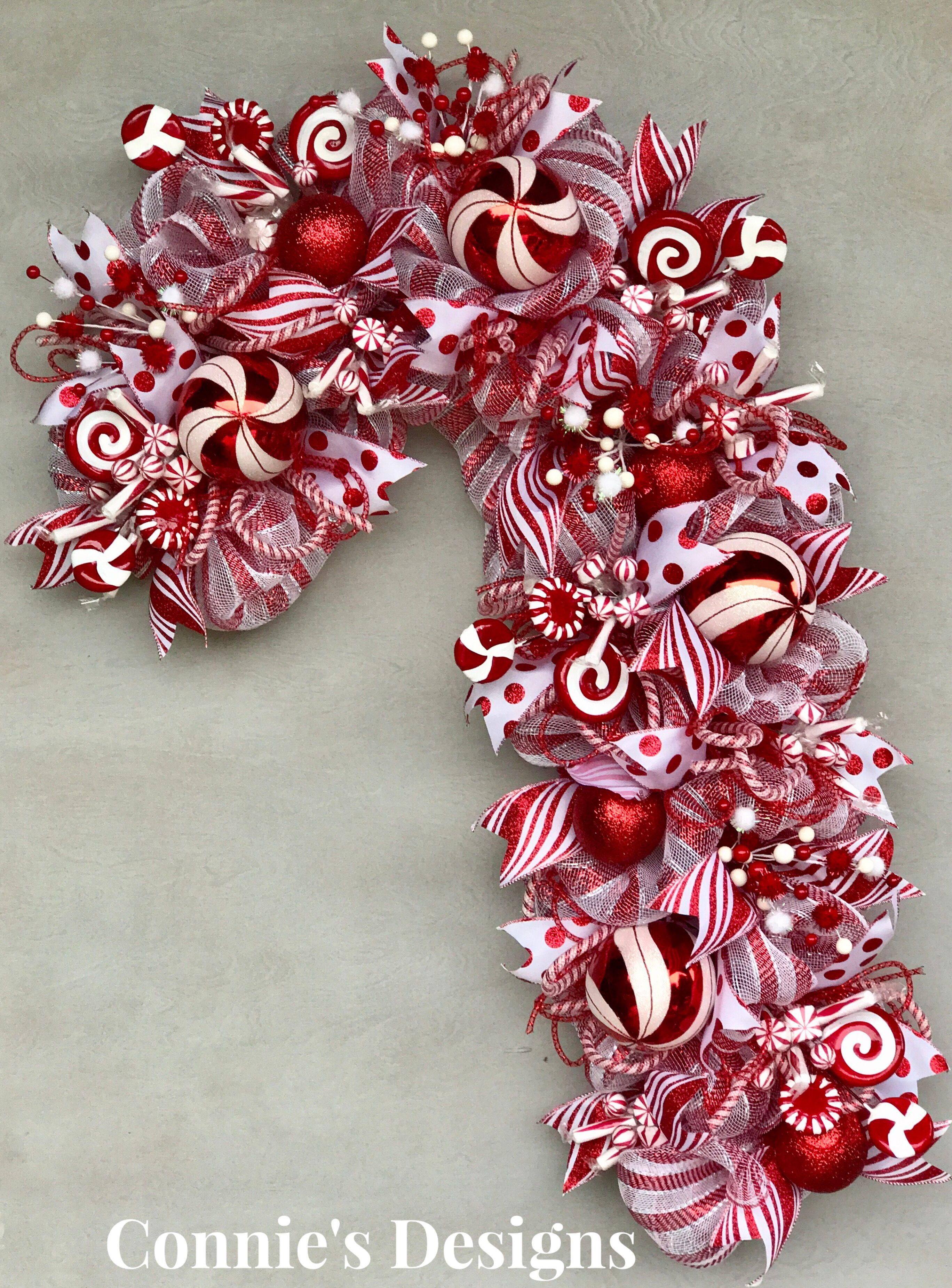 Candy Cane Wreath By Connie S Designs Christmas