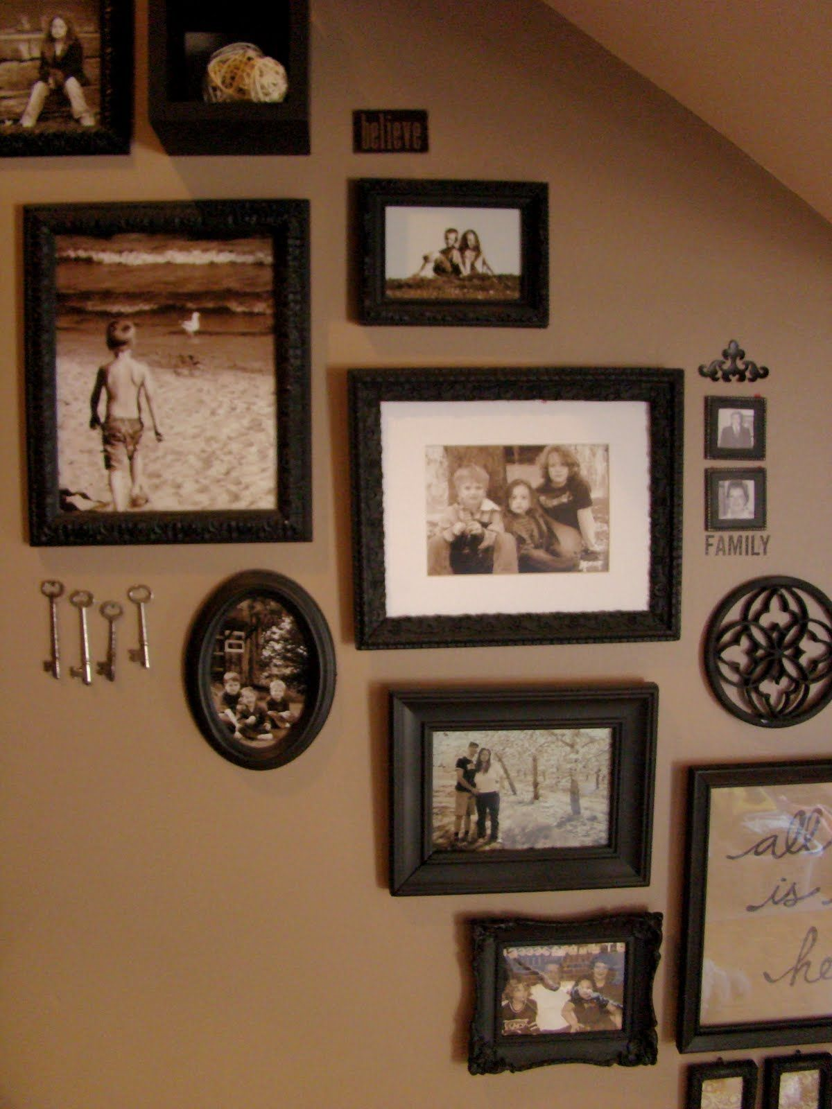 Beautiful Carou0027s Thrifty Adventures: Picture Frames On Staircase Wall