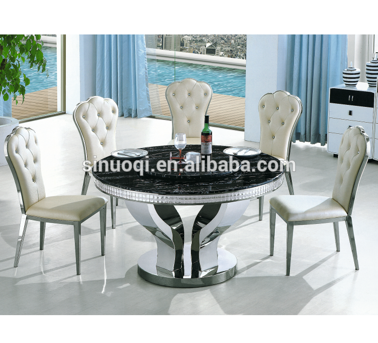 High Quality Hotel Table 12 Seater Marble Round Dining Table With