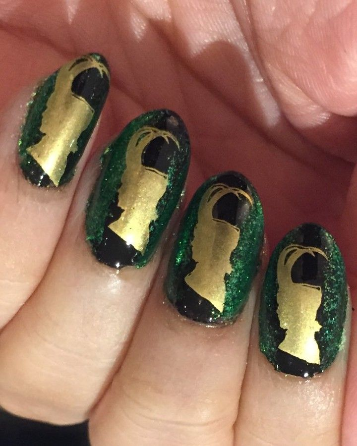 Avengers Nail Art Stickers: In Honour Of #ThorRagnarok #LokiNails MJ XLII Plate By