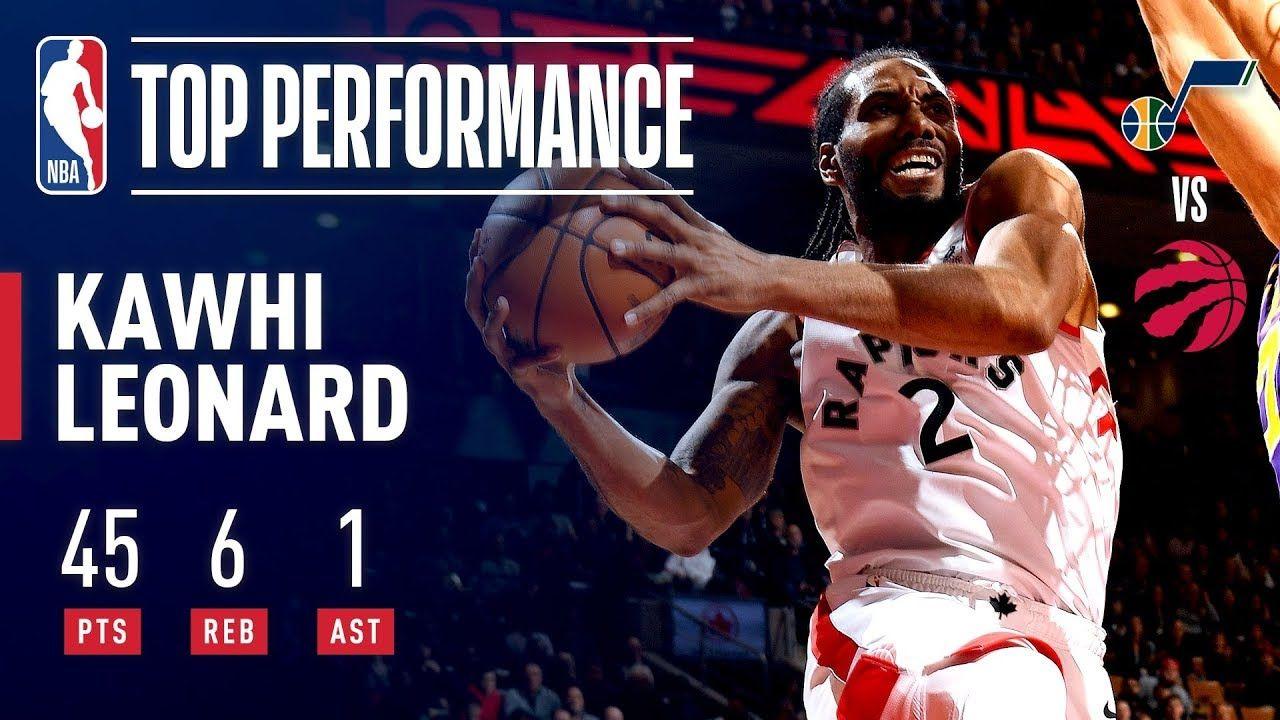 Kawhi Leonard Drops Career High 45 Points January 1 2019 Leonard Career January 1