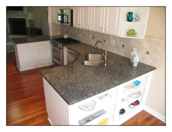 Blue Pearl Granite Kitchen Remodel Off White Kitchen Cabinets Off White Kitchens
