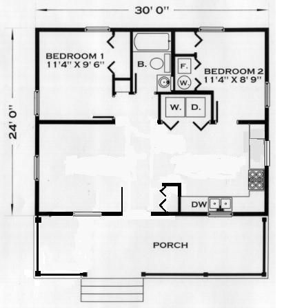 24 x 30 2 bedroom 1 bath house plans to adapt cottage floor rh pinterest com