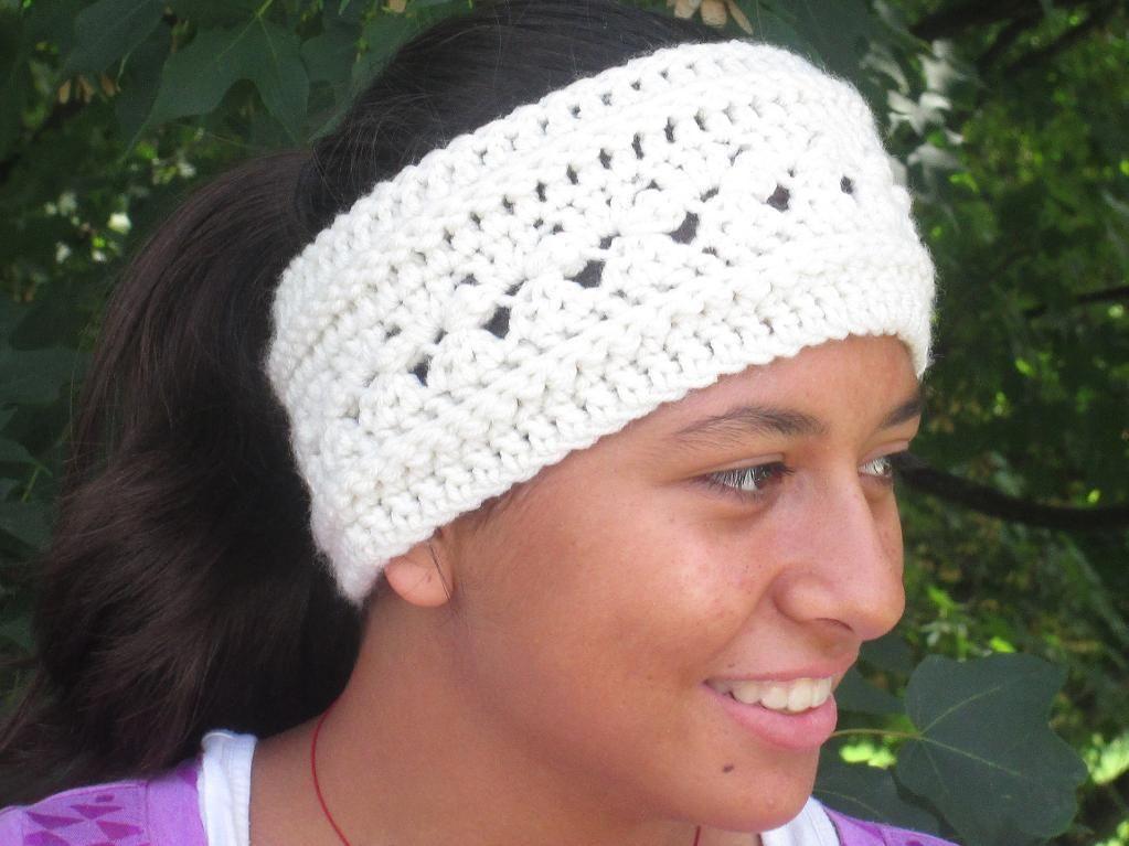 Trellis Head Wrap Earwarmer | Head wraps, Crocheting patterns and Wraps