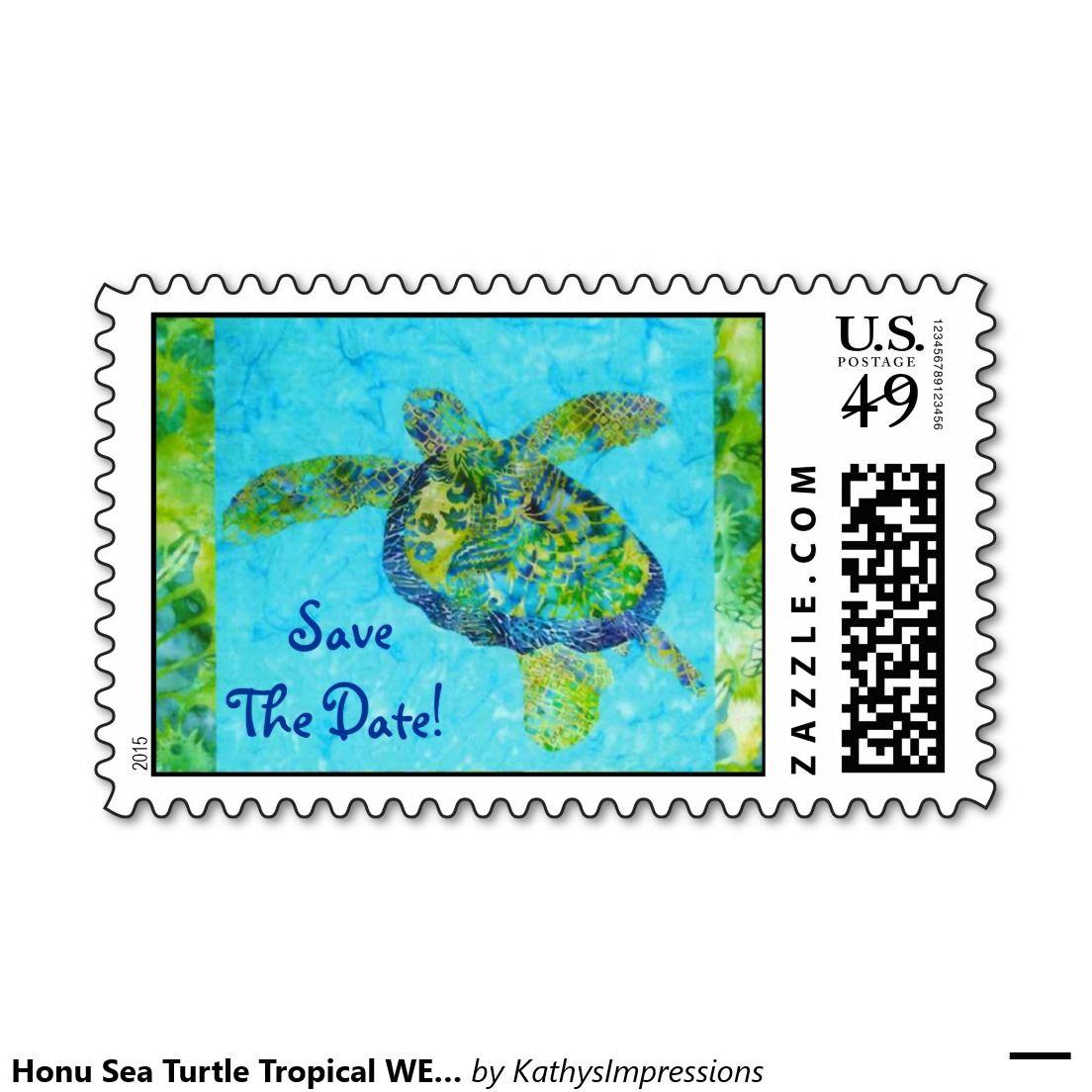 Honu Sea Turtle Tropical WEDDING STAMPS Postage   Zazzle