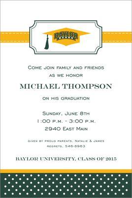 Baylor university graduation invitations baylor graduation baylor university graduation invitations filmwisefo