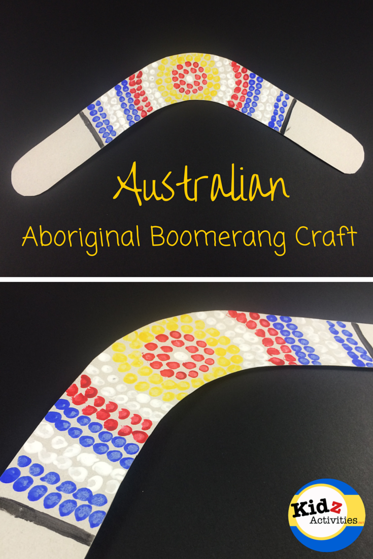 australian craft ideas australian aboriginal boomerang craft by kidz activities 1074