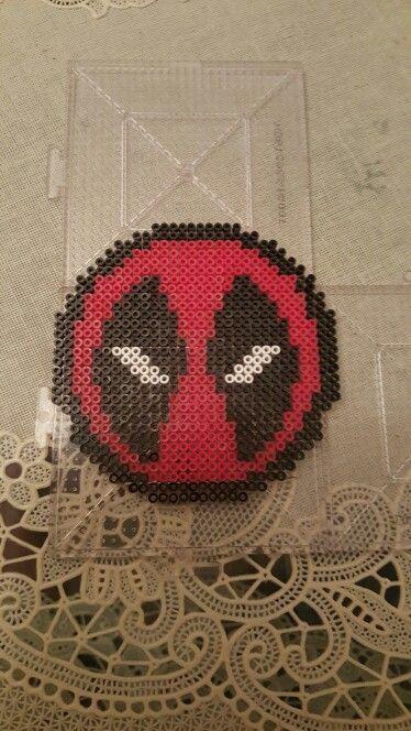 Deadpool perler beads pattern | perler beads | Pinterest