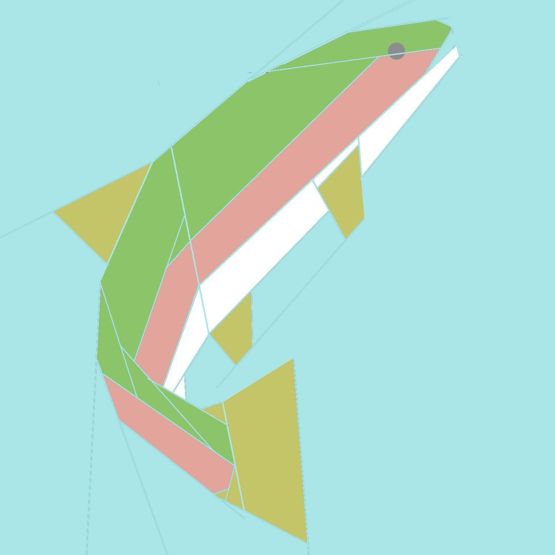 Rainbow Trout Paper Piecing Quilt Pattern