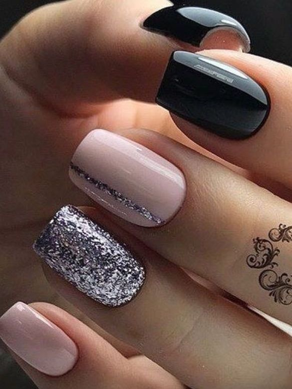 Inspiration Must Try Fall Nail Designs And Ideas 26 In 2020 Square Nail Designs Short Square Nails Short Acrylic Nails