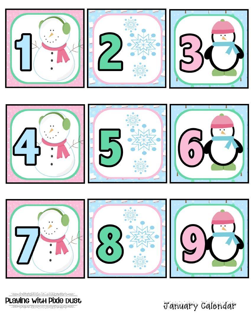 Kindergarten January Calendar : January calendar pcs pinterest
