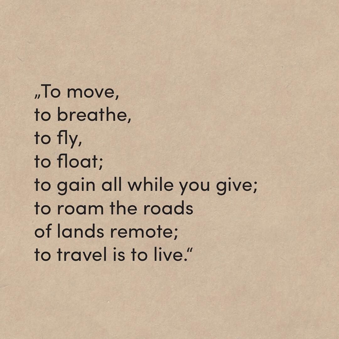 Quotes About Experience And Travel: Travel Is To Live ️ ️ #travelgram #travel #poem #poetry