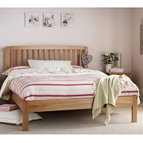 High Quality Low Foot End Bed Frame Made From Solid Oak