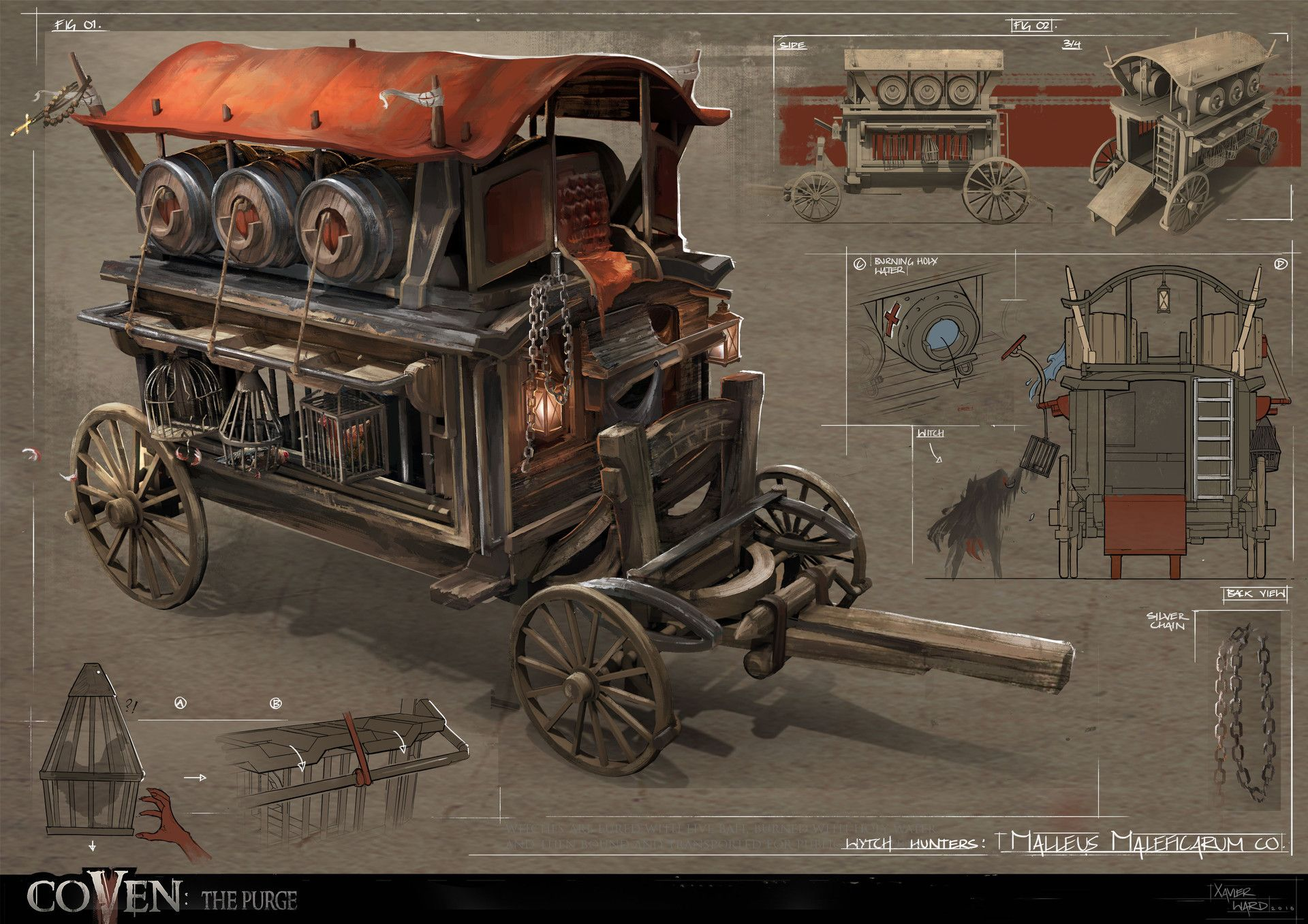 ArtStation - Witch Hunter Carriage, Xavier Ward