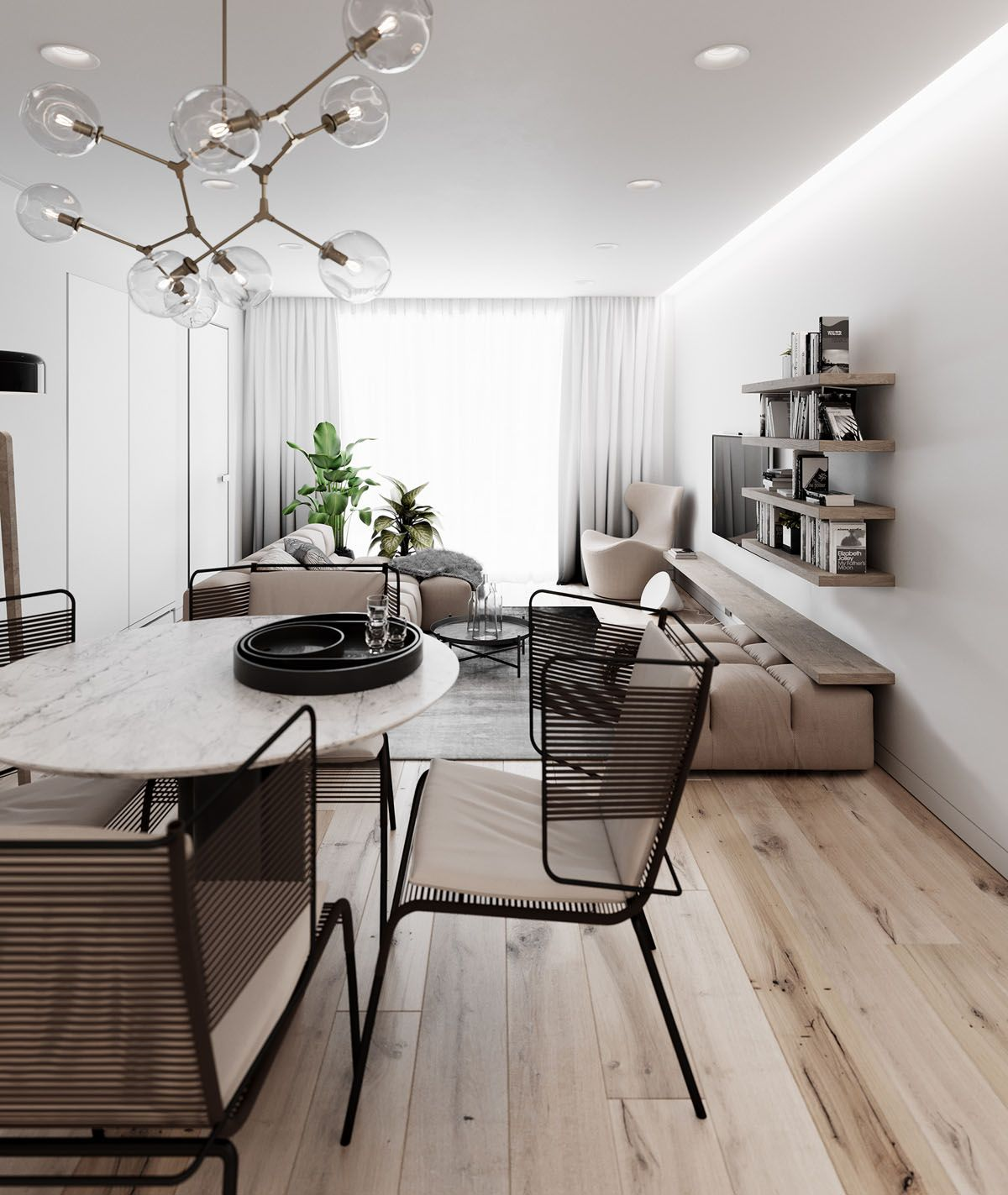 2 Simple Modern Homes With Simple Modern Furnishings Modern Furnishings Home House Design #simple #modern #living #room