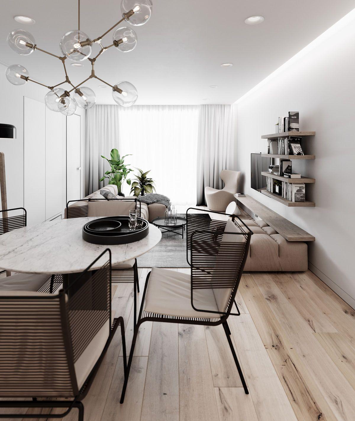 2 Simple Modern Homes With Simple Modern Furnishings Modern