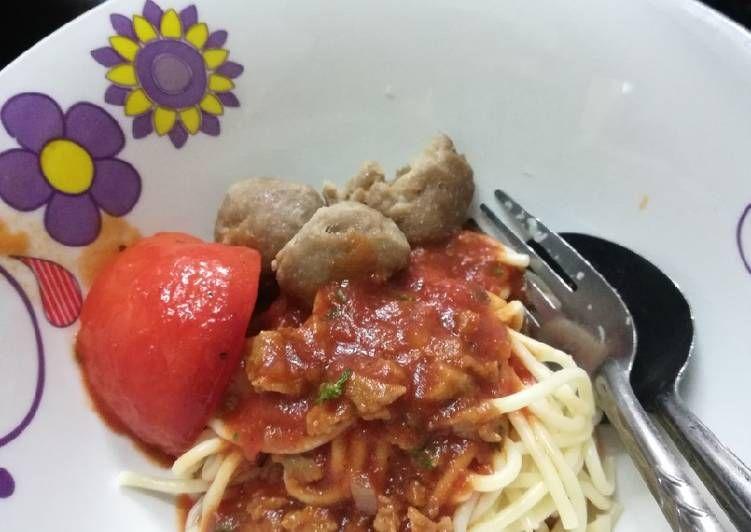Cara Memasak Spaghetti Bolognese Meatball Yang Mudah Aneka Resepi Enak Resep Spageti Memasak Cara Memasak