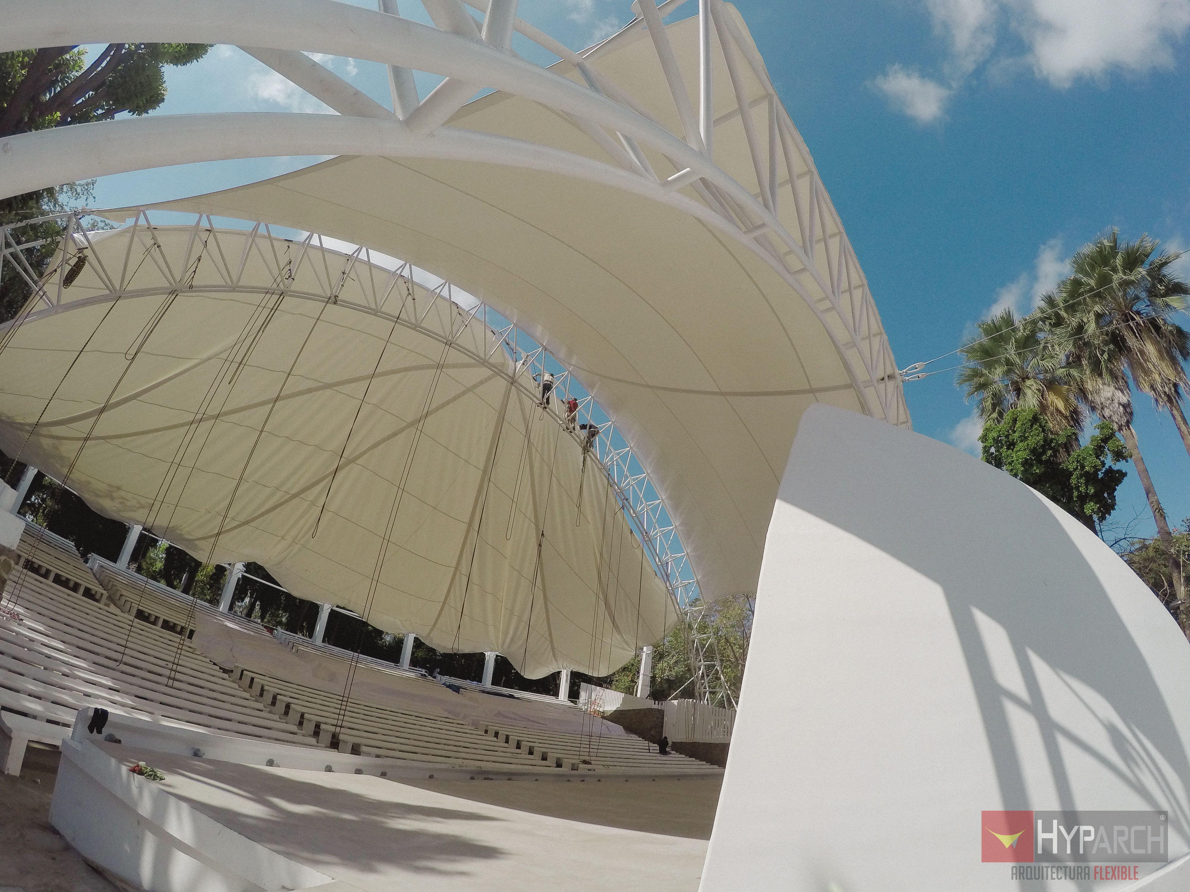 Velaria para auditorio en Culiacán #arquitectura #construccion ...