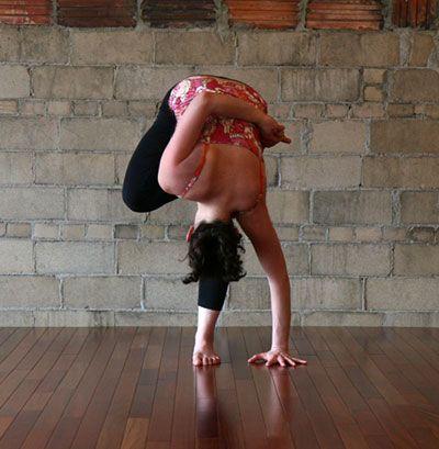 strike a yoga pose standing half bound lotus forward bend