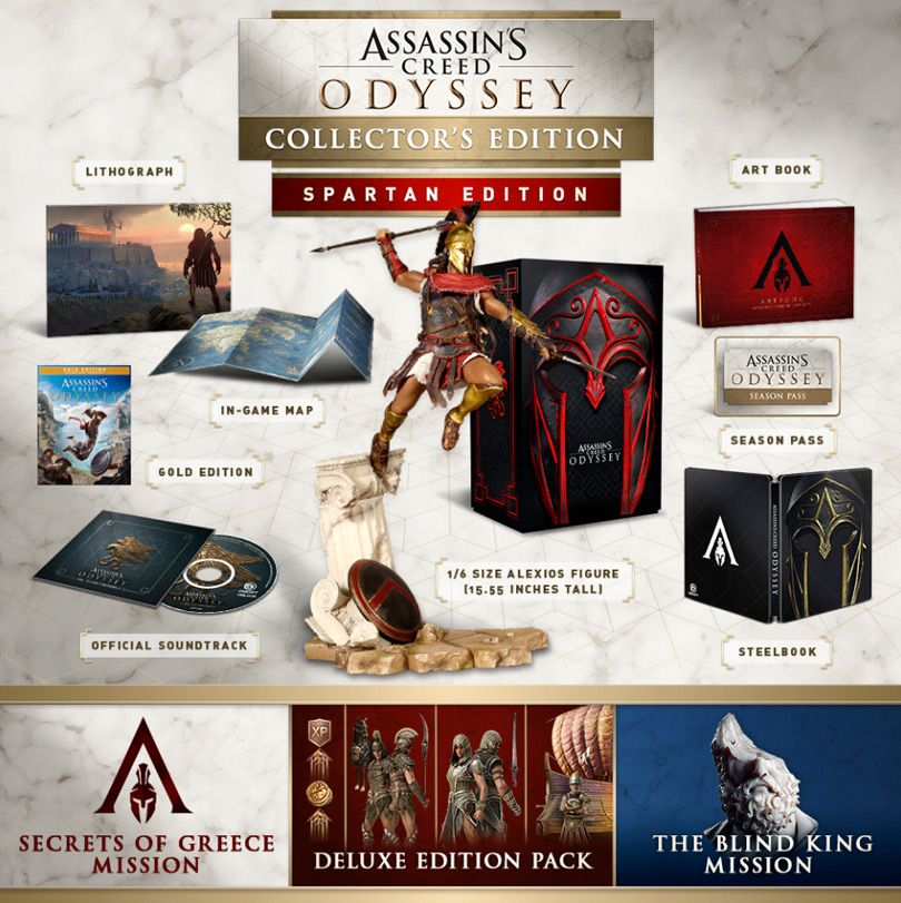 Assassin S Creed Odyssey Editions Differences And Season Pass
