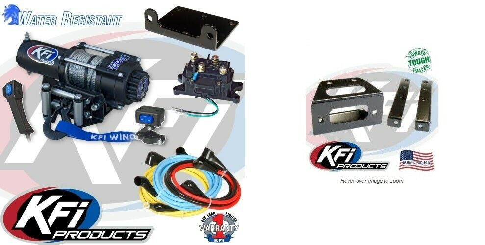 Steel Kimpex 3500 lb Winch Kit Honda Pioneer 700-4 2014-17