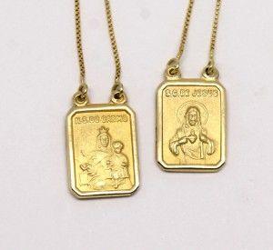 faae075914eb4 Escapulário Ouro Amarelo 18k 750