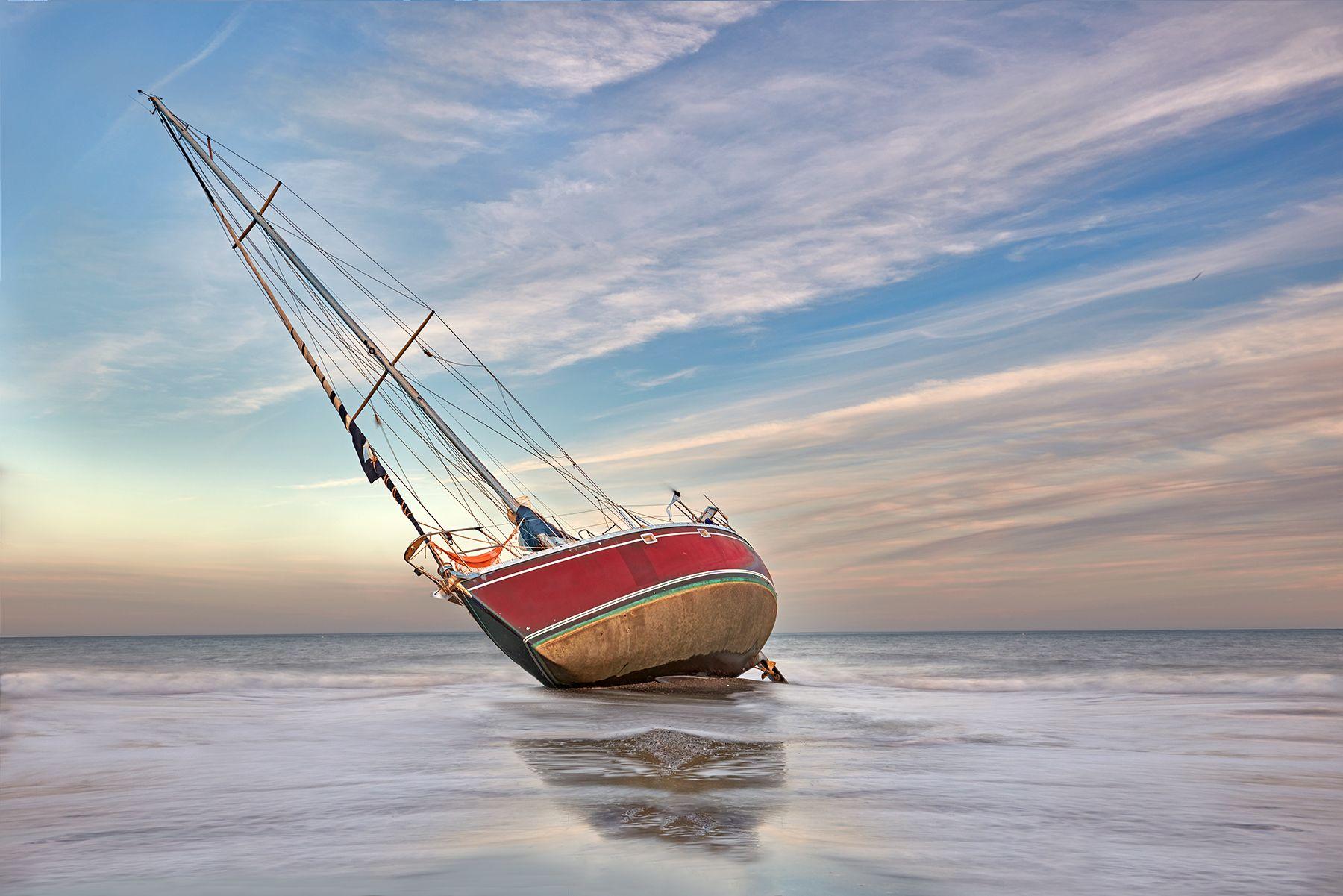 El velero encallado