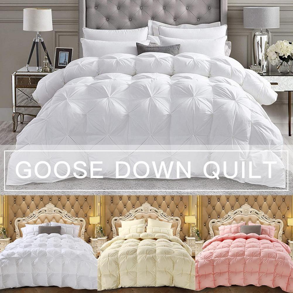 Goose Down Winter Quilt Comforter Blanket Duvet Filling Cotton