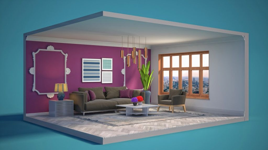 3d Illustration Interior Of The Living Room In A Box Paid Sponsored Sponsored Interior Box Room Illustration Room Home Decor Decor