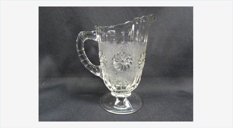 Roman Rosette Creamer Antique EAPG US Glass NO. 15030 Roman Rosette Creamer US Glass NO. 15030