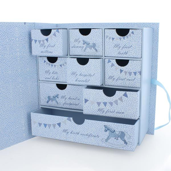 Baby Boy Keepsake Box With Drawers  sc 1 st  Pinterest : keepsake box baby - Aboutintivar.Com