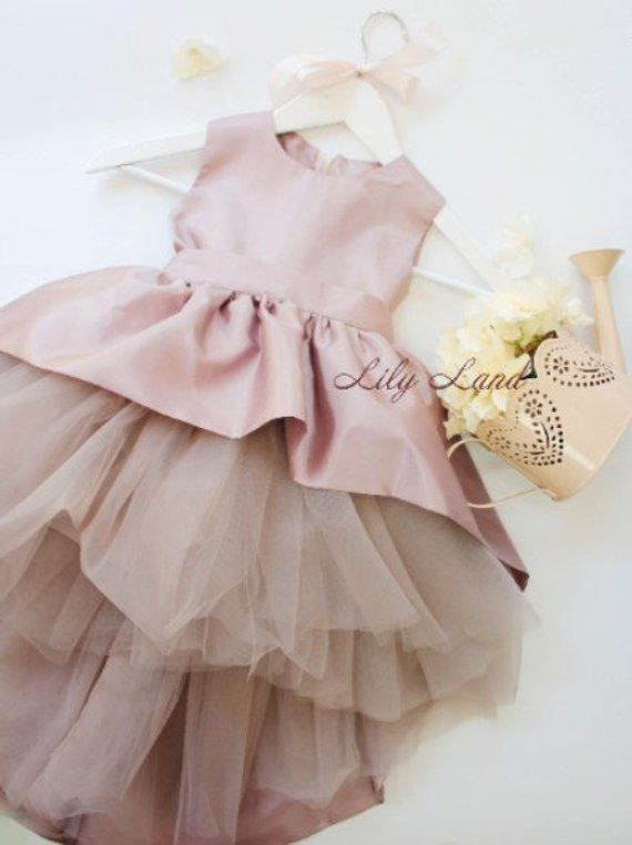 38444e067b Pageant girl dress caramel 1st birthday dress flower girl gown beige girl dress  toddler dresses tull