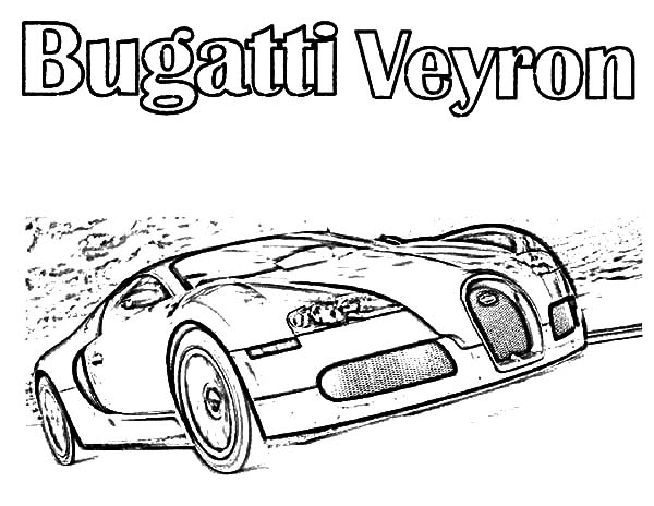 Bugatti Car Veyron On The Road Coloring Pages Best Place To Color