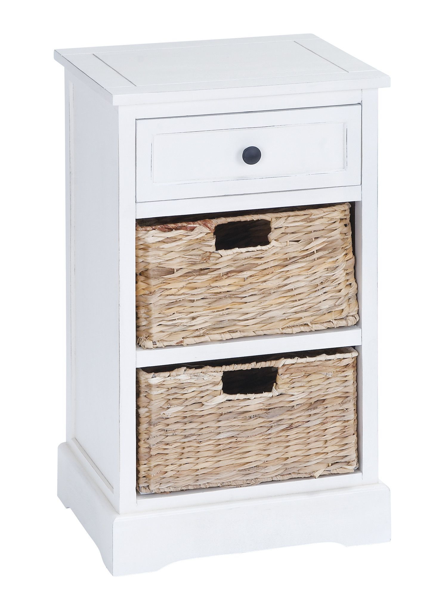 Classic Wood Basket Cabinet Brandishing Fine Detailing. Features: Has 2 Basket  Drawers Has A