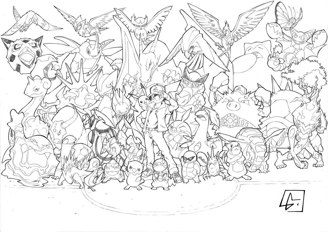 Coloriage De Tout Les Pokemon Pokemon Coloring Pages Pokemon