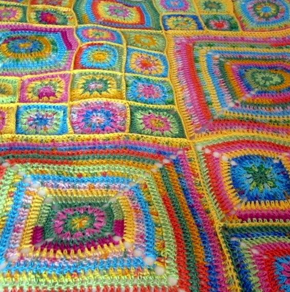 Crochet Pattern J\'adore Floral Granny Square by Thesunroomuk ...