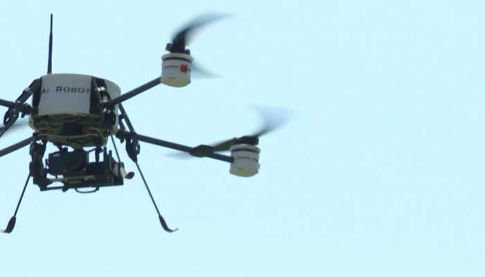 Drones helped during historic flooding in Wimberley, TX.  (Source: KCAN/CNN)