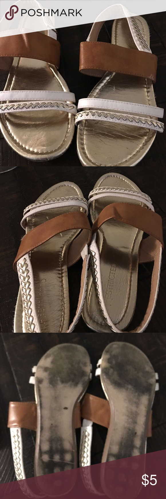 Cute daily sandals. Good condition sandals dress up or down with...🌈💞 Restricted Shoes Sandals