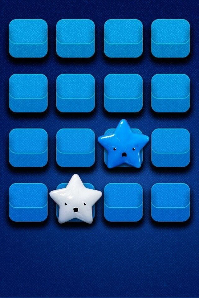 Blue With Stars Icon Wallpaper Free Iphone 4s Wallpapers Ipad Computer Keyboard