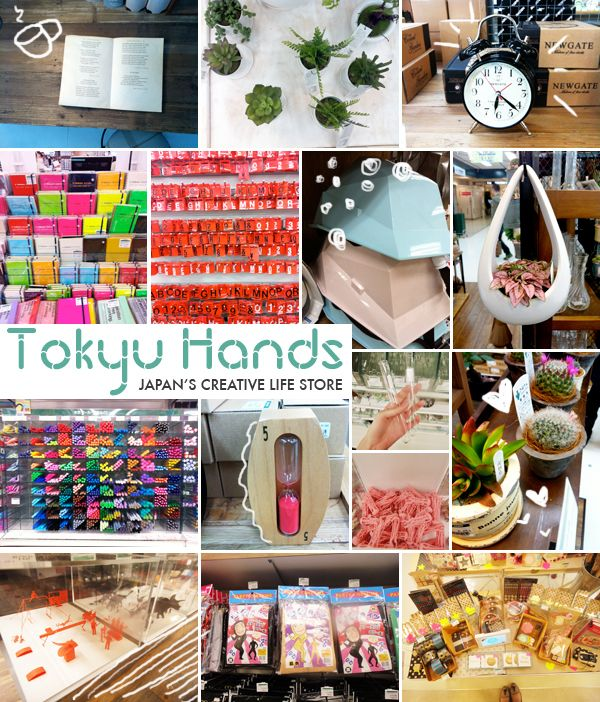 """Tokyu Hands' catchphrase is """"creative life store"""" and they"""