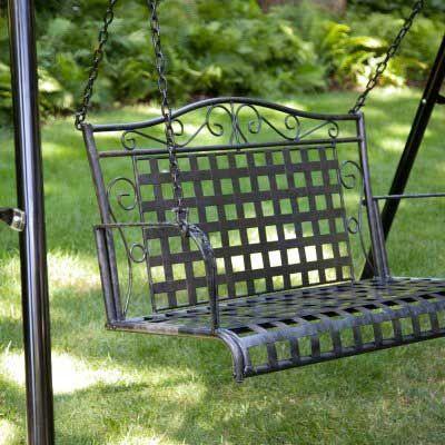 porch swing metal patio furniture