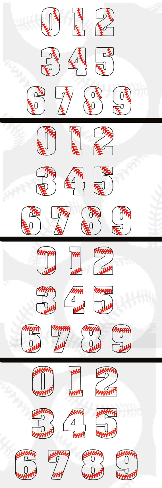 Download 4 pack Baseball laces numbers svg-dxf-png-eps in 1 zip by ...