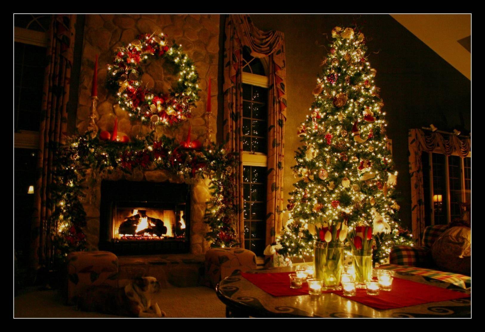 10 Best Christmas Fireplace Desktop Wallpaper Full Hd 1080p For Pc Desktop Fun Christmas Decorations Christmas Wallpaper Christmas Fireplace