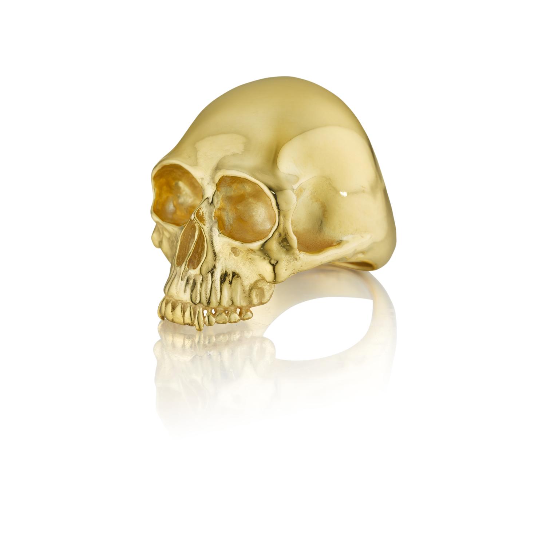 Solid Gold Skull Ring Anthony Lent Gold Skull Skull Ring Solid Gold