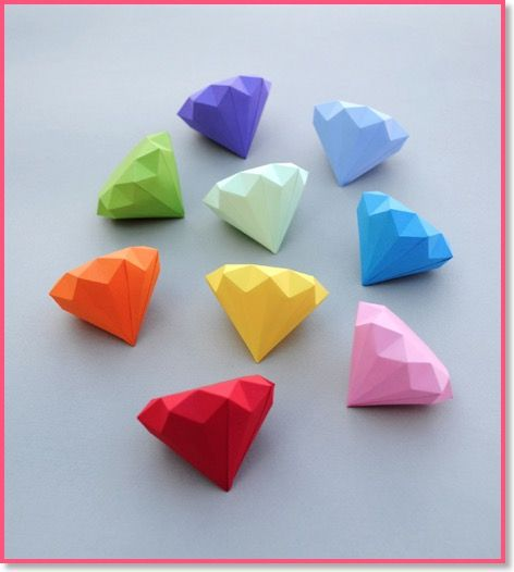 3D Paper Diamonds How Cool Is That .. Just Love It , And